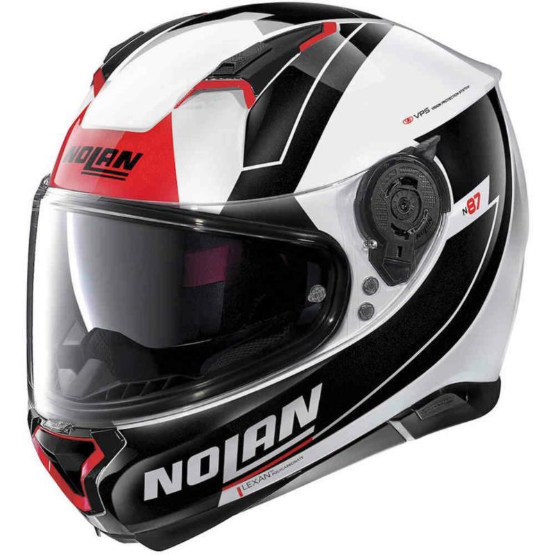 Kask NOLAN N87 SKILLED WHITE RED BLACK